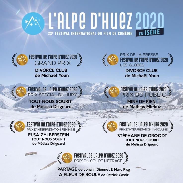 palmarès festival de l'alpe d'huez 2020